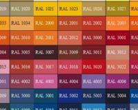 Vzorkovnice barev podle RAL -